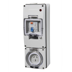 Voltex 250V 15A 3Pin 30mA IP66  RCD Protected Socket Outlet