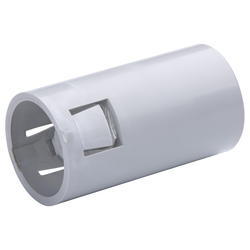 Plain to Corrugated Connector Grey 25mm - 20 Pack
