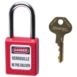 MasterLock Safety Padlock, Red - Keyed Different