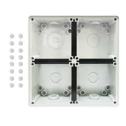 Voltex Four Gang Mounting Enclosure (Back Box) - Chemical Resistant White