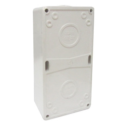 Voltex Two Gang Mounting Enclosure (Back Box) - Chemical Resistant White