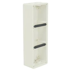 Voltex Three Gang Mounting Enclosure (Back Box) - Chemical Resistant White