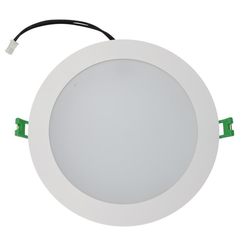 Kempton 18 Watt LED Down Light - Warm White - 3000K - White Frame - 160mm cut-out